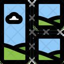 Left Vertical Image Grid Icon