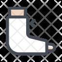 Leg Bones Fracture Icon