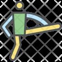 Leg Up Athlete Icon