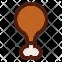 Chicken Leg Meat Icon