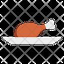 Chicken Leg Piece Food Icon