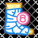 Broken Leg Dull Icon