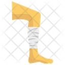 Leg Fractured Leg Pain Leg Bleeding Icon