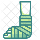 Leg Injury Broken Leg Icon
