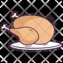 Leg Piece Chicken Thigh Food Icon