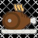 Leg Piece Ham Butcher Icon