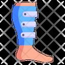 Leg Injury Leg Brace Leg Fracture Icon