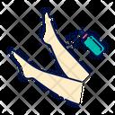 Leg Spray Beige Icon