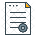 Legal Document Contract Icon