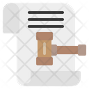 Legal Files And Folders Lawyer Icon