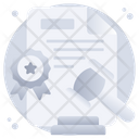 Auction Legal Contract Law File Icon