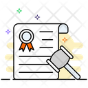 Court Order Agreement Document Legal Document Icon