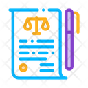 Court Sheet Paper Icon