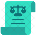 Legal Document Contract Legal Certificate Icon