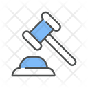 Legal Expenses Justice Hammer Icon