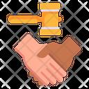 Legal Settlement Icon