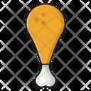 Drumstick Legpiece Chicken Icon