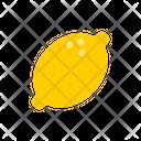 Lemon Lemon Slice Vegetable Icon