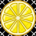 Lemon Fruit Fit Icon