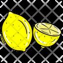 Lemon Slice Citrus Slice Fruit Icon