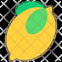 Lemon Lemon Slice Fruit Icon