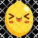Lemon Fruit Face Icon