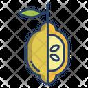 Lemon Vegetarian Vegetable Icon