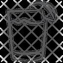 Lemon Juice Soft Drink Drink Glass Icon