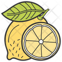 Lemon Slice Lemon Fruit Icon