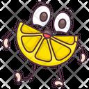 Lemon Slice Fruit Food Icon