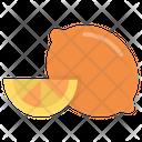 Lemon Slice Orange Slice Fruit Icon