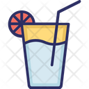 Lemonade Orange Juice Drink Icon