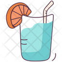 Summer Drink Martini Lemonade Icon