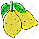 Lemons Juicy Lemon Fruit Icon