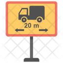 Length Limit Sign Icon