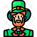 Leprechaun St Patricks Day Ginger Icon
