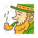 Leprechaun With Pipe Icon