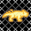 Leptoceratops Dinosaur Color Icon