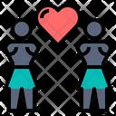 Girl Lesbian Heart Icon