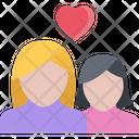 Lesbian Couple Woman Icon