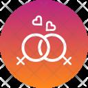 Lesbian Couple Romantic Icon
