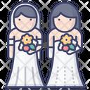 Lesbian Wedding Icon