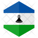 Lesotho Flag Hexagon Icon