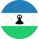 Lesotho Flag Country Icon