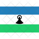 Lesotho Flag World Icon