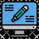 Computer Lesson Study Icon