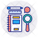 Lessons Pencil Ruler Icon