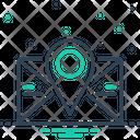 Postcode Poatal Pincoad Icon