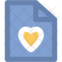 Letter Love Heart Icon