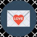 Letter Love Envelope Icon